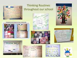thinking routines